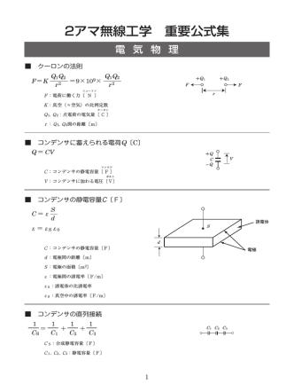 2アマ無線工学 重要公式集