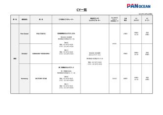 CY一覧 - Pan Oceanコンテナ日本株式会社