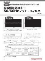 脳波信号処理②… 50/60Hzノッチ・フィルタ