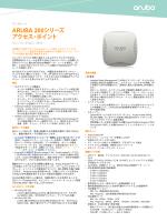 ARUBA 200シリーズ アクセス・ポイント
