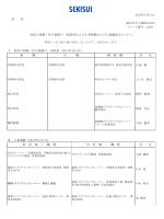各 位 Ⅰ.役員の異動・担当業務の一部変更(2014年4月