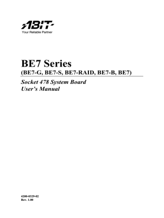 BE7 Series - Elhvb.com