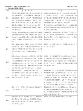 1.耐力壁に関する質疑 - 日本住宅・木材技術センター