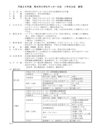 1年生県央大会予選 - 厚木市サッカー協会