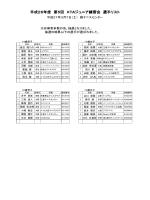 平成26年度 第5回 KTAジュニア練習会 選手リスト