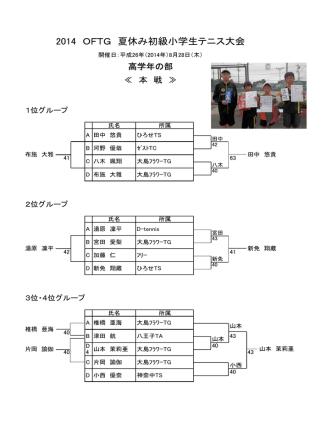 2014 OFTG 夏休み初級小学生テニス大会