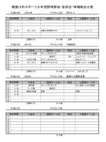 寝屋川市スポーツ少年団野球部会・各試合・球場組合せ表