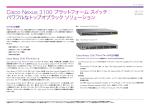 Cisco Nexus 3100 プラットフォーム スイッチ:パワフルなトップオブラック