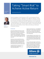 "Taking ""Smart Risk"" to Achieve Active Return"