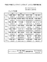 一覧表 - 日本レスリング協会