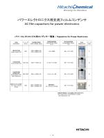 パワーエレクトロニクス用交流フィルムコンデンサ AC film capacitors for