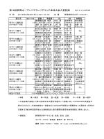 第18回群馬オープンベテランペアマッチ卓球大会入賞記録