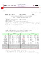 (PA1)NYK NEBULA V.040E スケジュール変更のお知らせ
