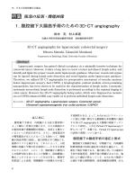 特集 1. 腹腔鏡下大腸癌手術のための3D−CT angiography