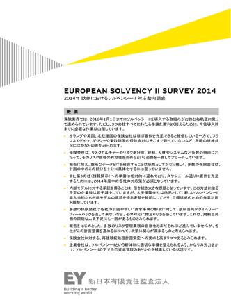 2014年 ソルベンシーⅡ サーベイ概要 (PDF:184KB)
