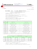 JPX 3月-4月 本船変更のお知らせ - NYK Container Line
