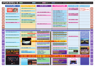 24:00∼24:20 日本最大級のカウントダウン大花火