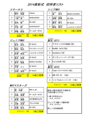 2014表彰式 招待者リスト