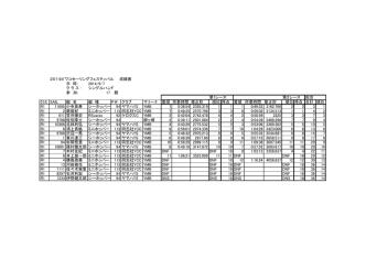 2014ビワコセーリングフェスティバル 成績表