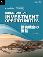 ノーザンテリトリーにおける投資機会の要覧 (pdf 4.4 mb)
