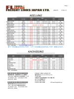 KEELUNG KAOHSIUNG - フレイトリンクス|FREIGHT LINKS JAPAN