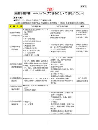 (参考1)ヘルパーのできること・できないこと(案)(PDF:176KB)
