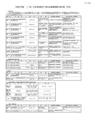27年度JPSF事業日程 HP掲載2 - 一般社団法人 日本身体障がい者水泳