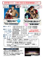 新幹線で行く 日帰り東京宝塚劇場観劇ツアー