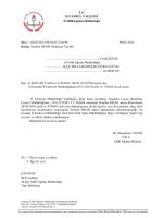 T.C. İSTANBUL VALİLİĞİ İl Millî Eğitim Müdürlüğü Sayı : 66452182