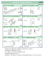 無溶接金具 標準設計価格表(壁)