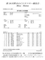 第 18 回野辺山CUPスキー競技会