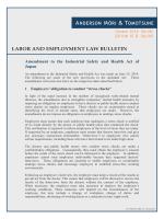 労働安全衛生法の改正 - アンダーソン・毛利・友常法律事務所