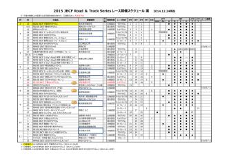 12/24 2015年度レース開催スケジュール 案 (PDF 469KB)