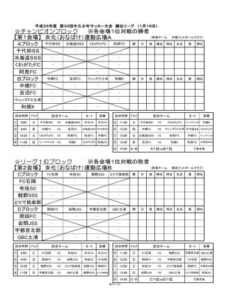 2日目のスケジュール - 牛久二小SSSホームページ