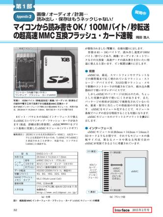 100Mバイト/秒転送 の超高速MMC互換フラッシュ