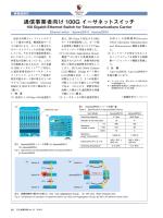 通信事業者向け100G イーサネットスイッチ (PDF: )