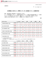 CALCO-A,B,NOWCO-A サービス 各本船スケジュール変更の件