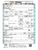 FM845 週間番組表
