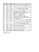 発表者 タイトル P-01 埼玉大学 P-02 京都大学 遠藤