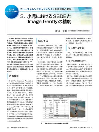 3.小児におけるSSDEと Image Gentlyの精度