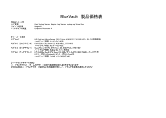 BlueVault Log Management 製品価格表