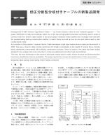 低圧分割型分岐付きケーブルの新製品開発