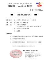 第2回 ALOHA 秋田 お申込み お問合せ