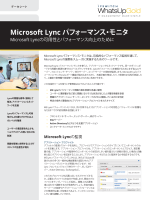 Microsoft Lync パフォーマンス・モニタ