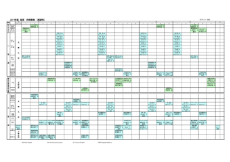 2014年度 後期 時間割表 [英語科]