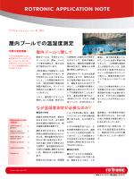 [第17回] 屋内プールでの温湿度測定