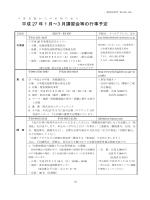 平成27年1月~3月の主な行事予定
