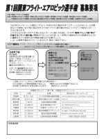 第1回関東フライト・ エアロビック選手権要項