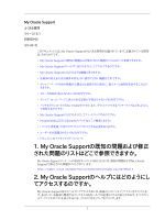 My Oracle Support - よくある質問