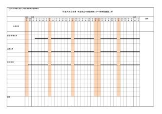 7月度月間工程表 埼玉県立小児医療センター新病院建設工事